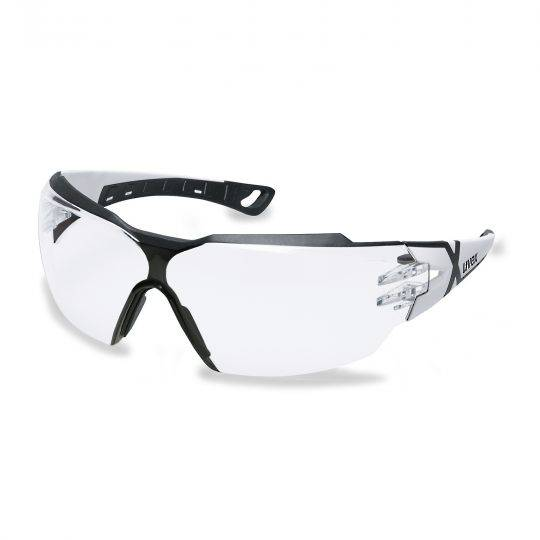 Uvex Pheos CX2 White/Black Frame Spectacles - Clear HC-AF