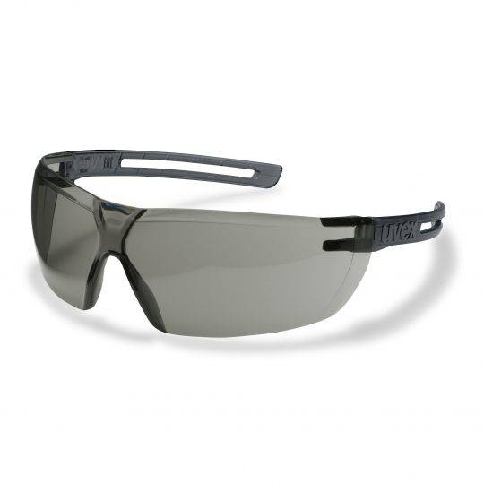Uvex X-Fit Grey Frame Spectacles - Smoke HC-AF
