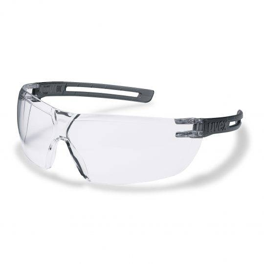 Uvex X-Fit Grey Frame Spectacles - Clear HC-AF