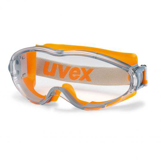 Uvex Ultrasonic Vented Orange/Grey Frame Goggle - Clear HC-AF