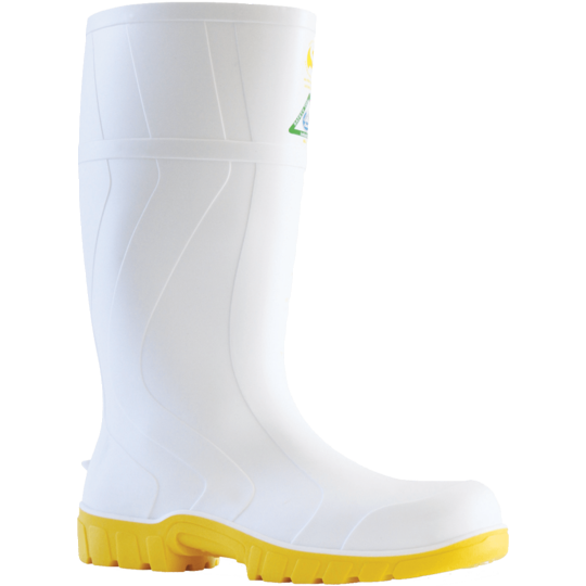 Bata Safemate 2 White Steel Toe Gumboot