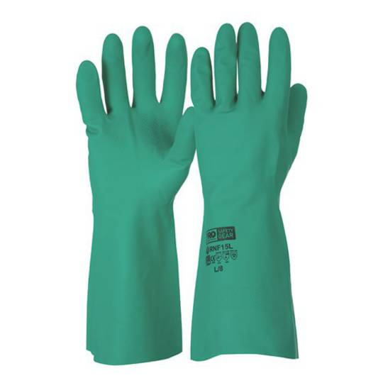 Green Nitrile Chemical Resistant Gloves