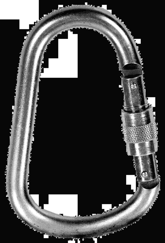 Steel Pear Shaped Karabiner - Screw Lock