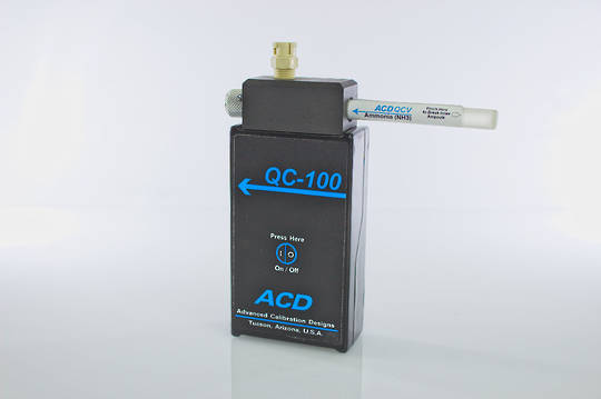 ACD QC-100 Calibration Gas Bump Tester (NH3, C6H14, HCl, C7H8)