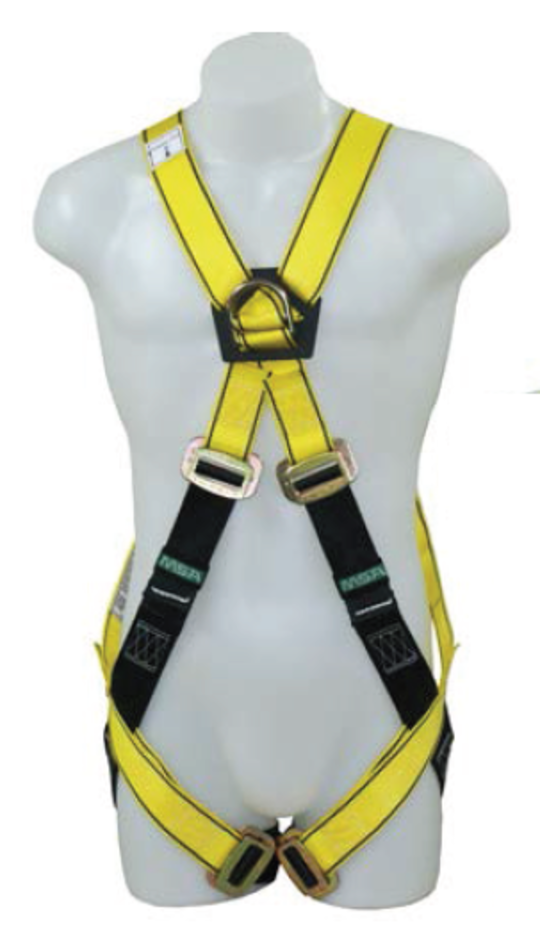 MSA Workman Gravity Crossover Harness - Aluminium D-Rings
