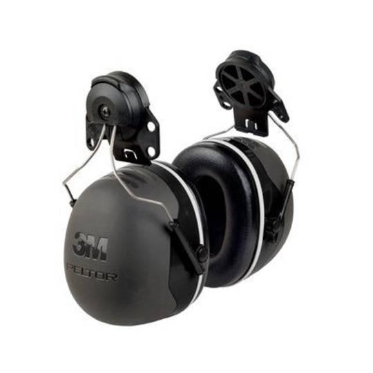 3M PELTOR X Series X5P3E Premium Cap Attached Earmuff - Class 5