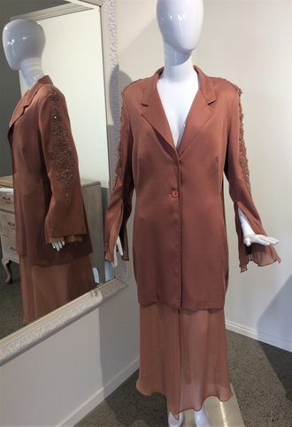HIDE AND CHIC COAT DUSTY PINK