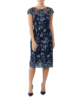 MOONSTONE EMBROIDERED DRESS