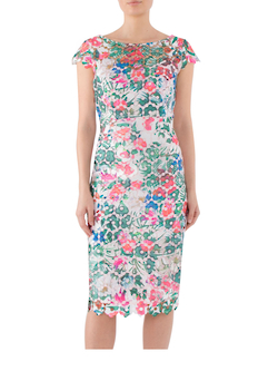 HAVANA PRINTED GUPERE LACE DRESS