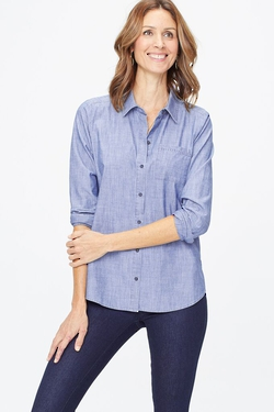 CHAMBRAY SHIRT IN SKY BLUE WASH