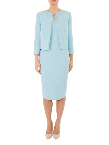 Anthea Crawford  Mother of the bride or groom, wedding guest, Elegant day wear. Spa Crepe Jacket.