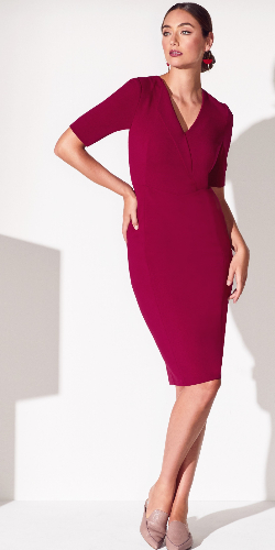 Anthea Crawford cherry shift dress front view