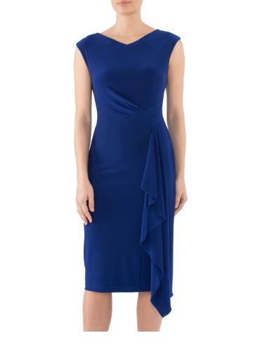 Mother of the bride or groom wedding Sapphire Jersey dress