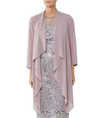 MOTHER OF THE BRIDE OR GROOM BLUSH CHIFFON JACKET