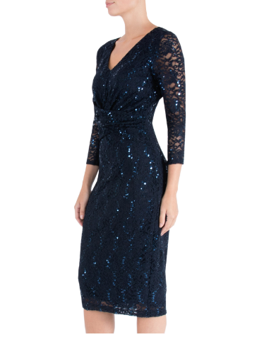 ANTHEA CRAWFORD MOTHER OF THE BRIDE OR GROOM INK SEQUIN DRESS 1