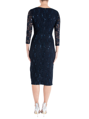 ANTHEA CRAWFORD MOTHER OF THE BRIDE OR GROOM INK SEQUIN DRESS 2
