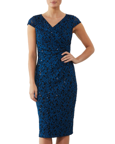 mother of the bride or groom teal dress