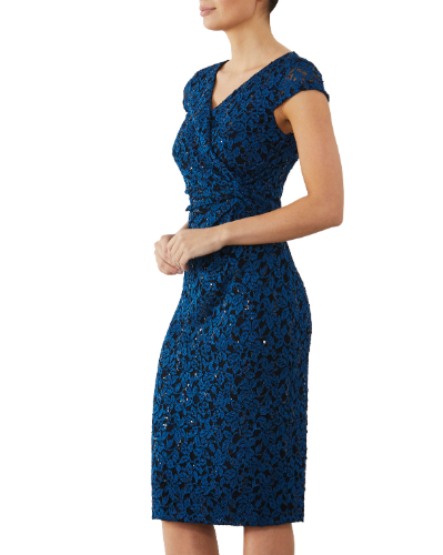 mother of the bride or groom teal dress 1