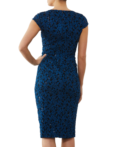 mother of the bride or groom teal dress 2