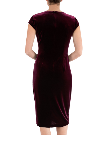 ANTHEA CRAWFORD MOTHER OF THE BRIDE OR GROOM PLUM VELOUR  DRESS 2