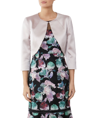 mother of the bride blush jacket