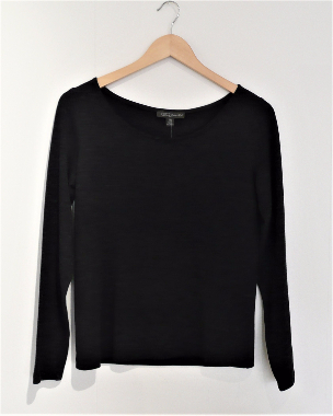 Jane Daniels  merino long sleeves knit top charcoal marle-864