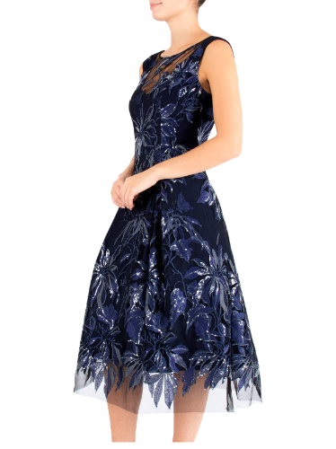 mother of the bride or groom blue pearl dress 2