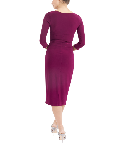 mother of the bride or groom magenta jersey dress 2