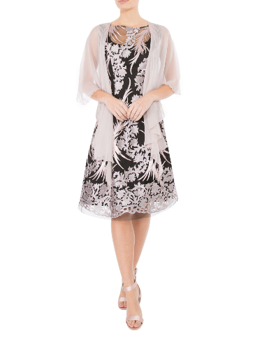 Anthea Crawford  Mother of the bride or groom, wedding guest, Elegant day wear. rose