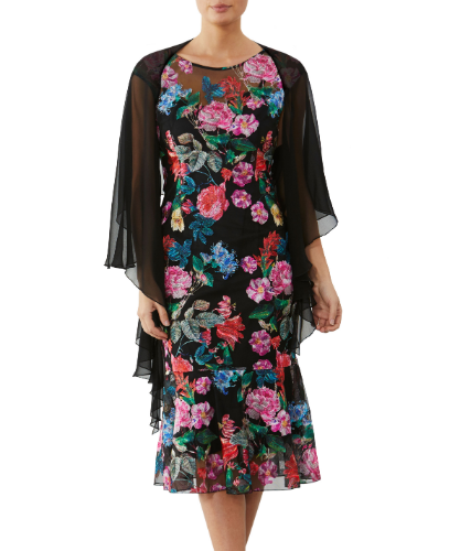 mother of the bride or groom garland dress and shrug