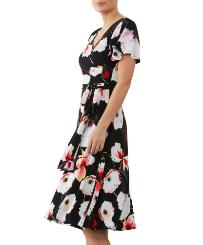 mother of the bride or groom flora printed jersey  dress 1