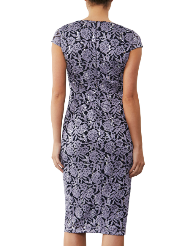 mother of the bride or groom lilac sequin  dress 2