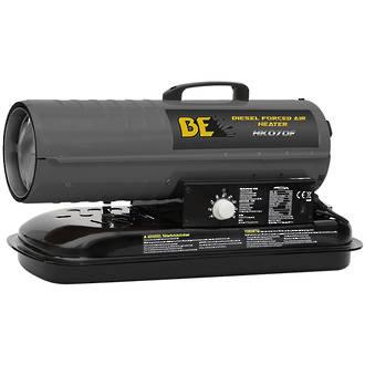 BE Diesel Forced Air Heater - 70000 BTU