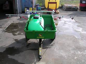 Ride-on mower trailer