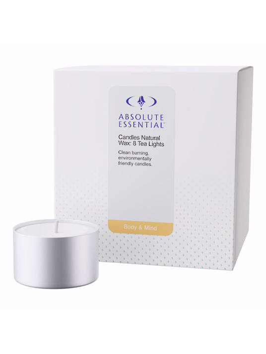 Absolute Essential Candles Natural Wax (8 Tea Lights)