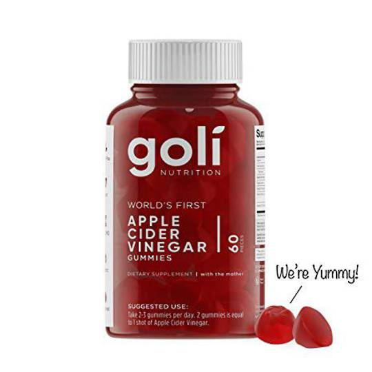 Goli Apple Cider Vinegar Gummies, 1 Month supply - Back in Stock
