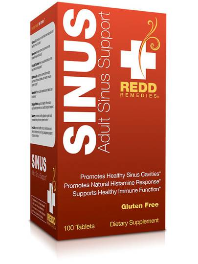 Redd Remedies Adult Sinus Support, 100tabs