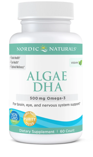 Nordic Naturals Algae DHA 500 mg, 60 Soft Gels