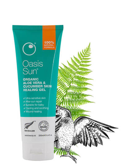 Oasis Beauty Sun Aloe Vera & Cucumber Skin Healing Gel, 250ml