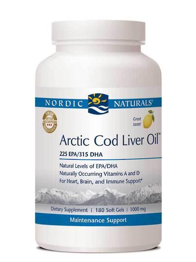 Nordic Naturals Arctic Cod Liver Oil, 90 & 180 Soft Gels