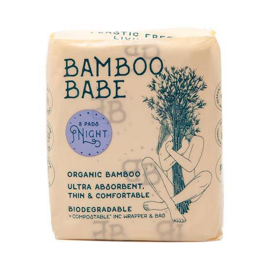 Bamboo Babe Organic Bamboo Pads - Night