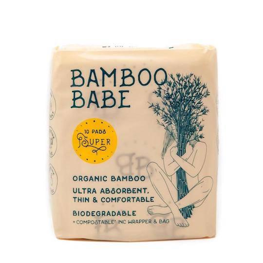 Bamboo Babe Organic Bamboo Pads - Super