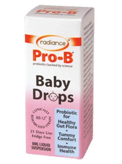 Radiance Pro-B Baby Drops, dairy free probiotics