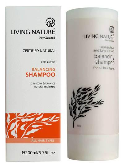 Living Nature Balancing Shampoo, 200ml (best before 07/21)