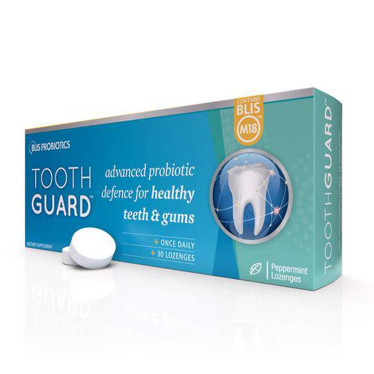ToothGuard with BLIS M18, 30 Lozenges (Peppermint)