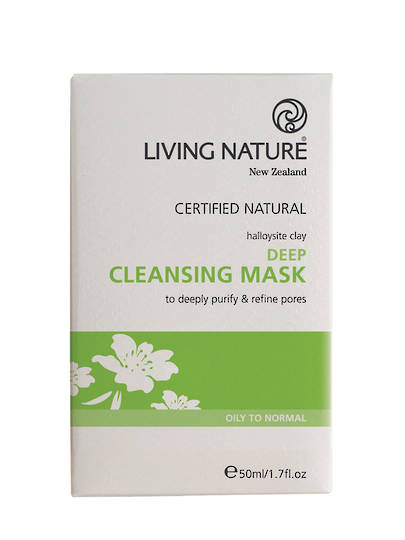 Living Nature Deep Cleansing Clay Mask, 50ml