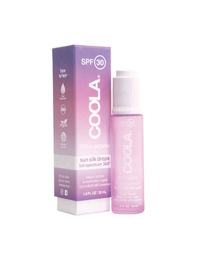 Coola Organic SPF30 Full Spectrum 360 Sun Silk Drops, 30ml plus FREE 5ml mini bottle