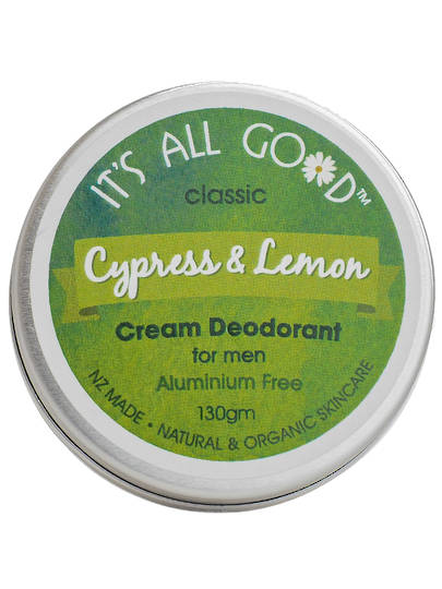 It's All Good, Natural Cream Men Deodorant Cypress & Lemon 30gm