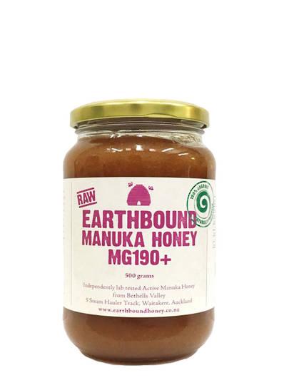 Earthbound Raw Manuka Honey Active 180+, 500g