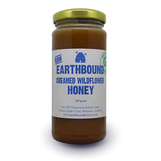 Earthbound Creamed Wildflower Honey, 320g